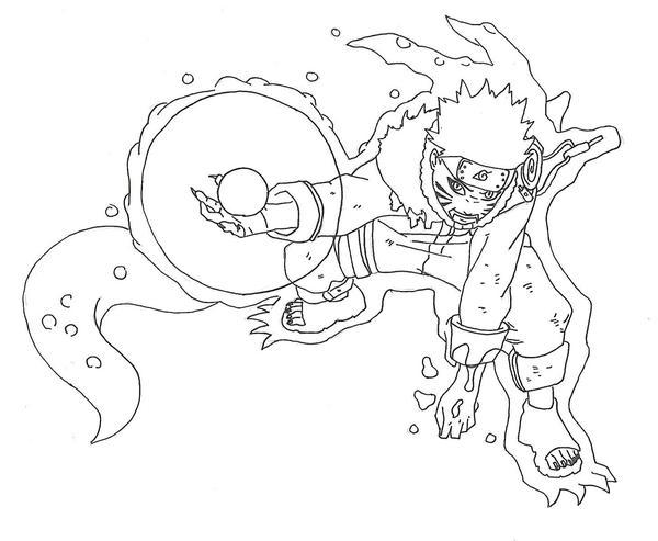Naruto Nine Tailed Fox Rasengan Drawing  Naruto Nine Tai...