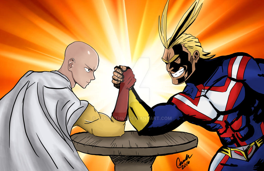 Saitama Vs All Might By Lapidoth45