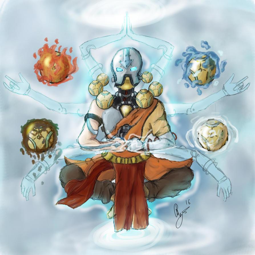 Avatar Aang: Zaangyatta (Zenyatta + Avatar Aang)- By LlamaFreak By