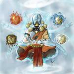 Zaangyatta (Zenyatta + Avatar Aang)- by LlamaFreak