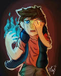 Gravity Falls - Bipper (Dipper + Bill) by LlamaFrk