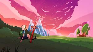 'Sunset' - Adventure Time art