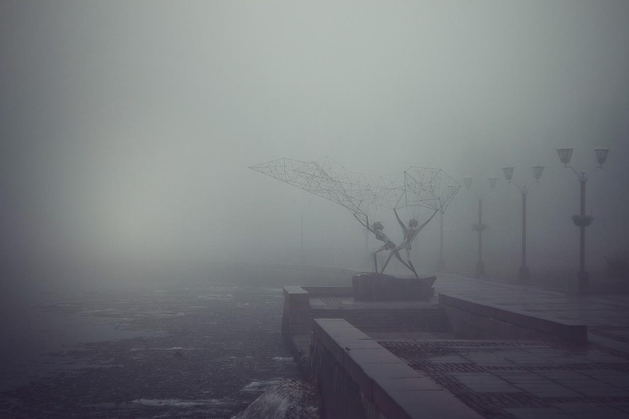 Morning fog or Real estate on demand: surreal art-print, poster ...