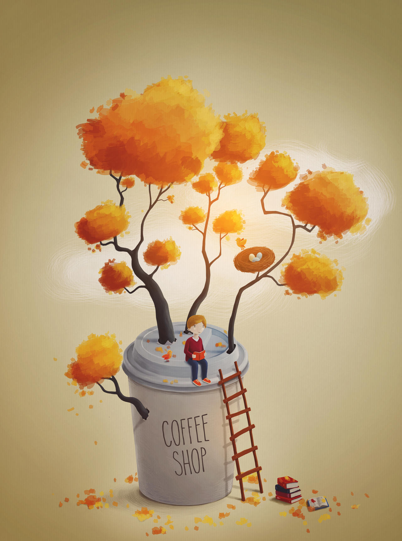 Coffee Shop Tree by Eredel