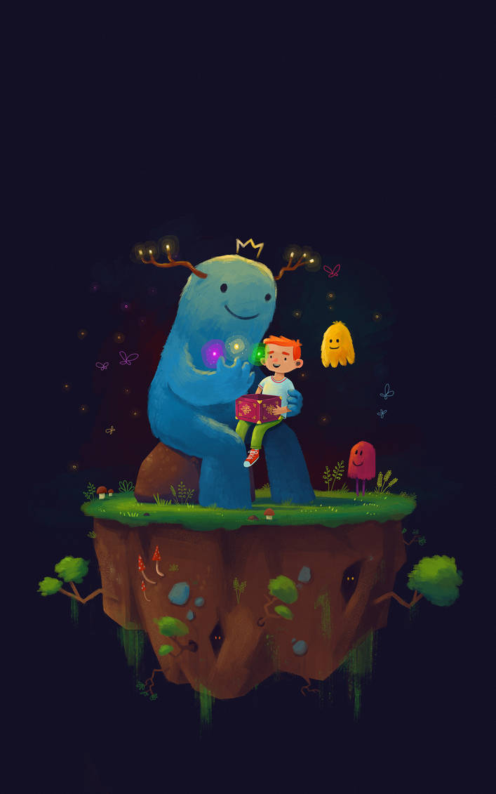 Monster and boy by Eredel