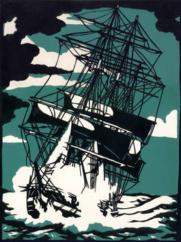 Tall ship - stormy seas