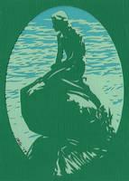 Mermaid Green Sm by rschuch
