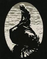 8x10 Mermaid Black Sm by rschuch