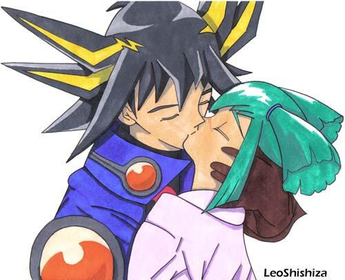 Yusei and Luna in Love by LeoShishiza on DeviantArt