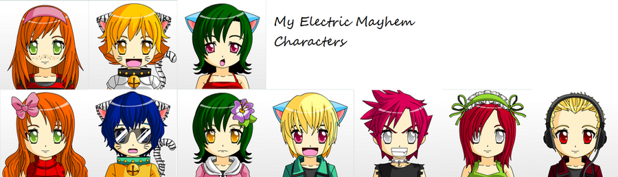 My Electric Mayhem Characters by Dklover101295
