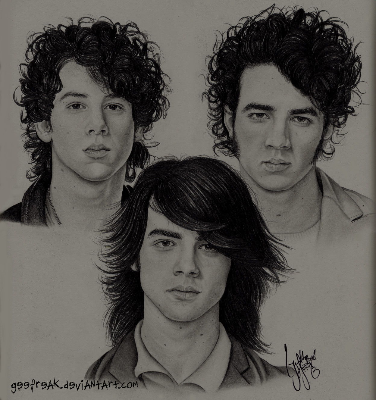 The Jonas Brothers: Portrait by GeeFreak