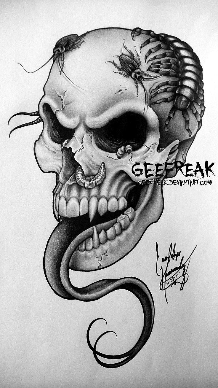 skull tattoo design upgrade by geefreak on deviantart. Black Bedroom Furniture Sets. Home Design Ideas
