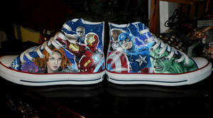 The Avengers Converse