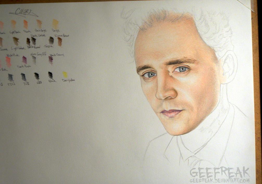 Tom Hiddleston- WIP by GeeFreak