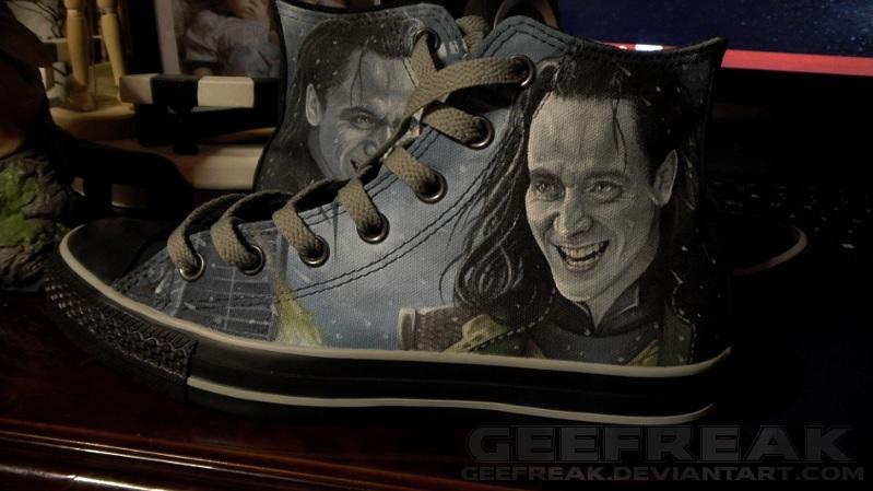 Thor: The Dark World- Loki converse by GeeFreak on DeviantArt