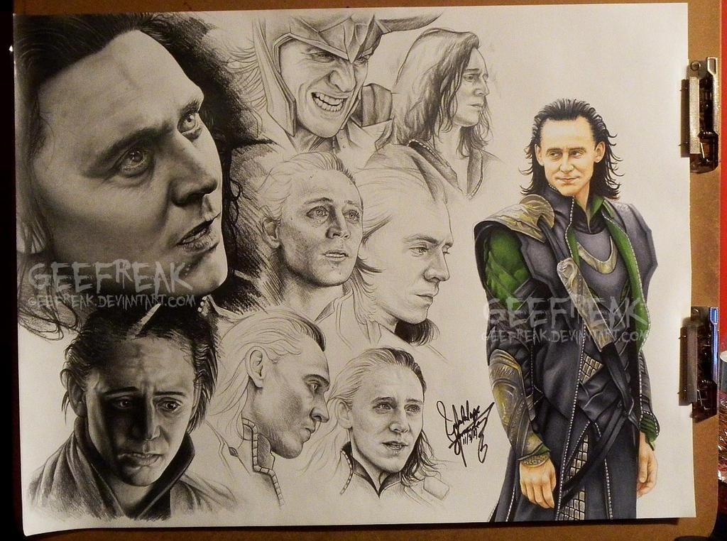Loki: Sketch Sheet by GeeFreak