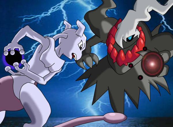 Mewtwo vs Darkrai by Myundeadkittens on DeviantArt