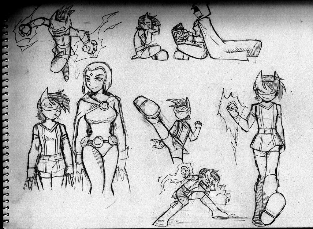 Crimson Fist doodles by RednBlackDevil