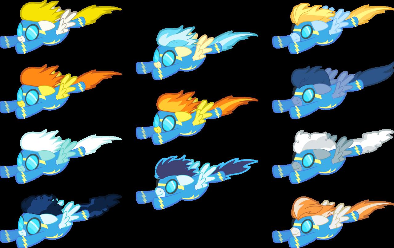 Wonderbolts flying by D4SVader on DeviantArt