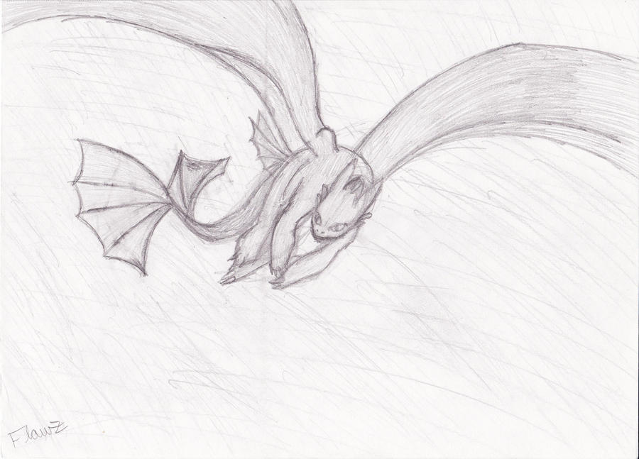 Toothless Night Fury Drawing | www.imgkid.com - The Image ...