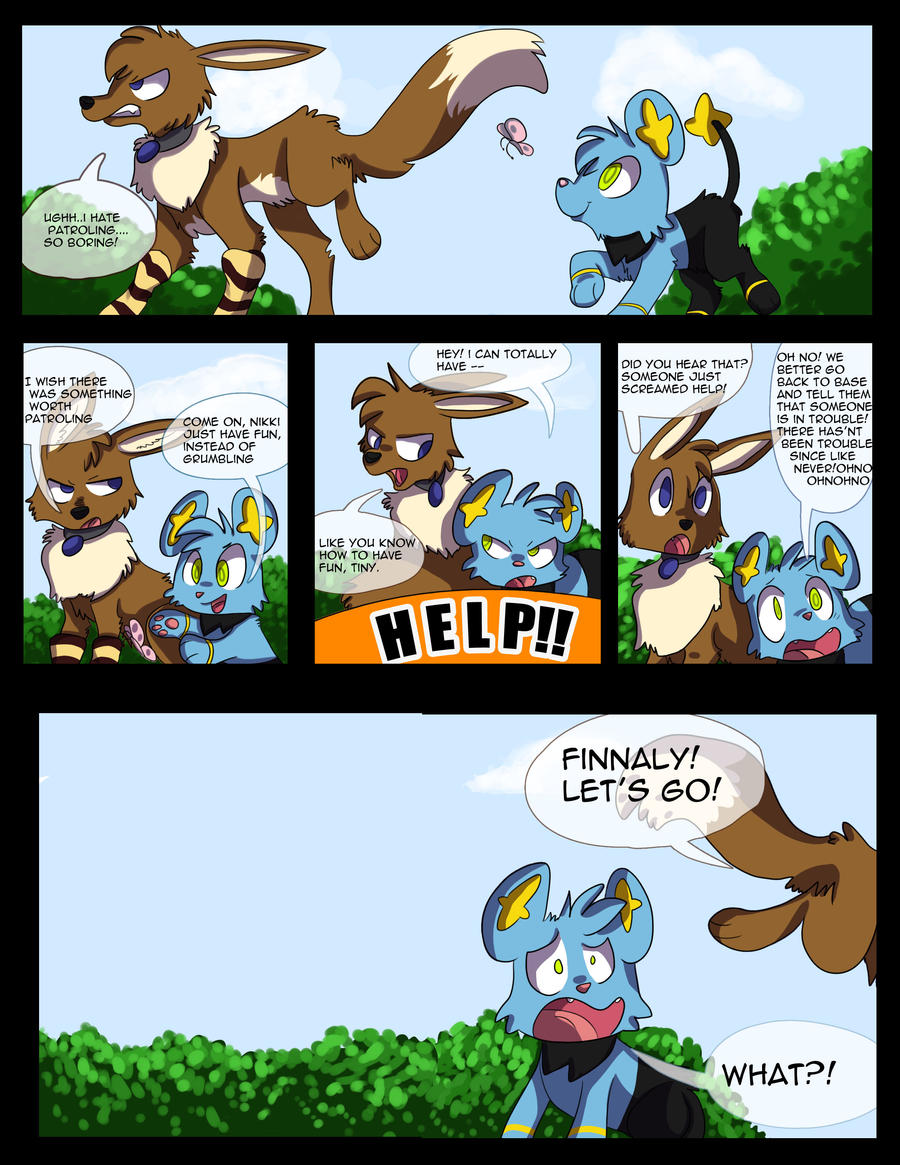 *Test* Pokemon comic page by Golden-Brush