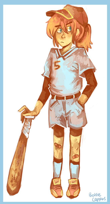 Painted Baseballgirl by Golden-Brush