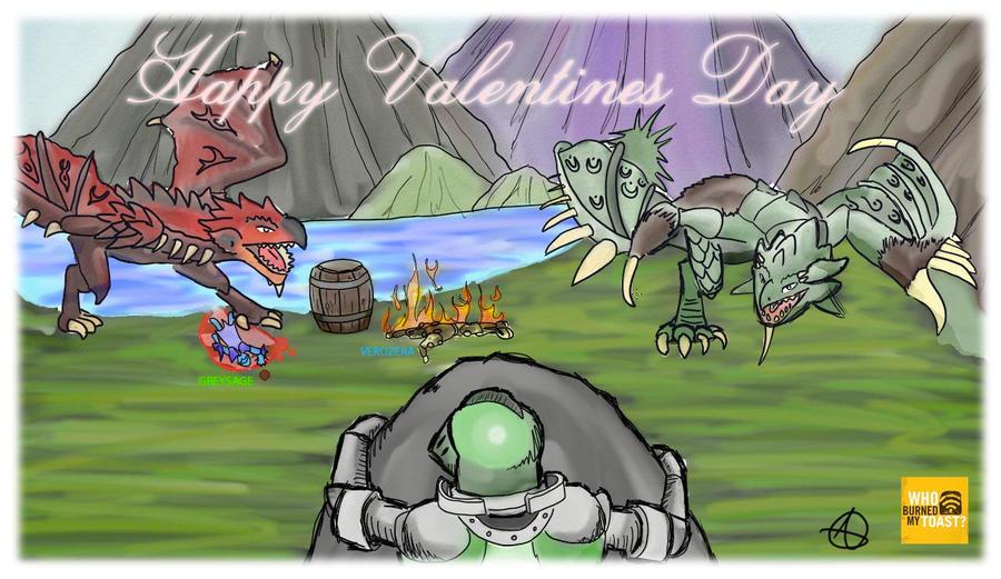 valentines day monster hunterelfeo666 on deviantart, Ideas