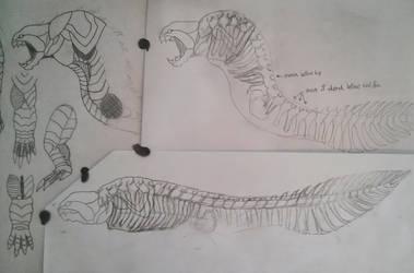 Sarcosteus Skeletal Design and Assets.