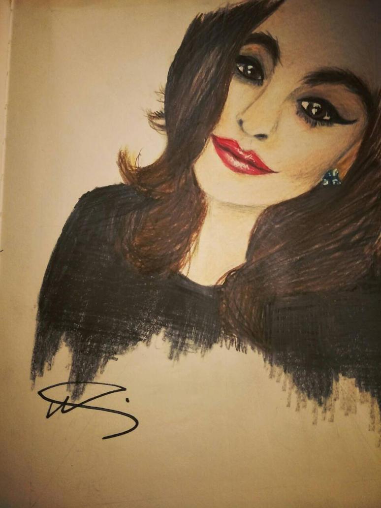 self portrait attempt  by Nixola98xxx