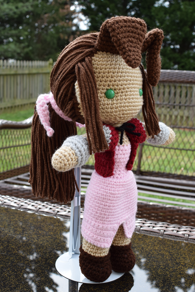 Final Fantasy VII | Aerith Gainsborough Doll by featheredshaft