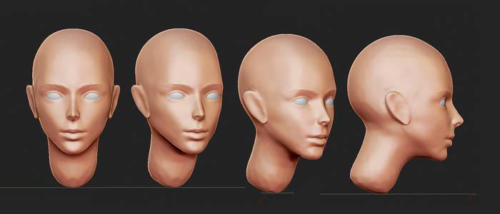 Face sculpt by Dmeville
