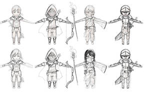 Chibi Fantasy Concepts by Dmeville