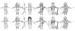 Chibi Fantasy Concepts