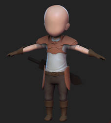 3D Chibi Warrior