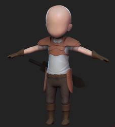 3D Chibi Warrior by Dmeville