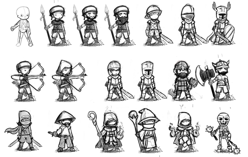 Game Design Character Classes : Rpg classes concepts by dmeville on deviantart