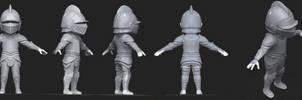 Mini Knight 3D Concept by Dmeville