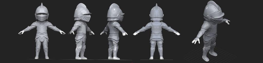 Mini Knight 3D Concept