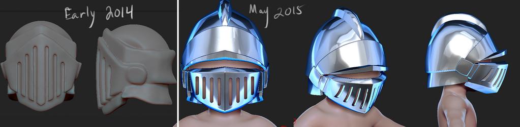 Knight Helmet by Dmeville