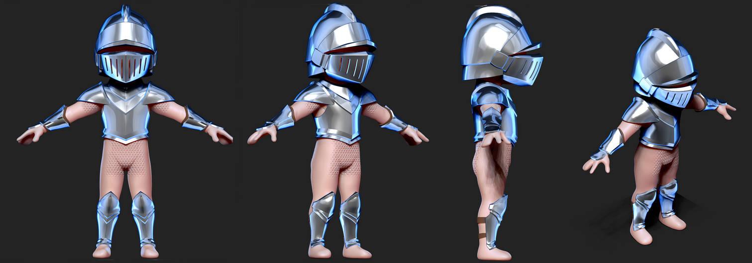 Knight 3D WIP#2