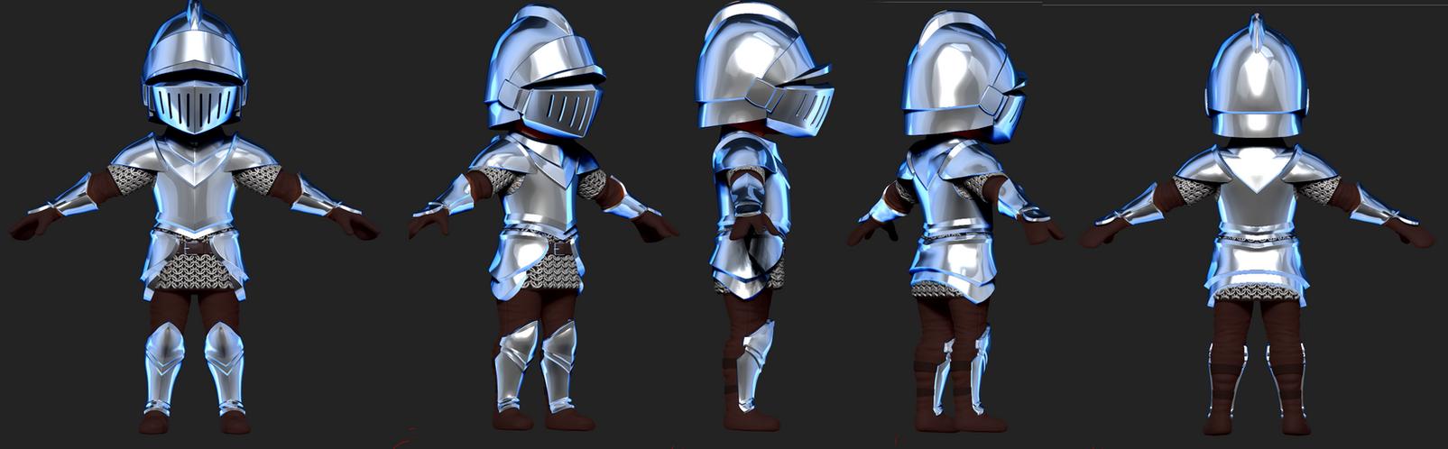 Knight 3D Final by Dmeville
