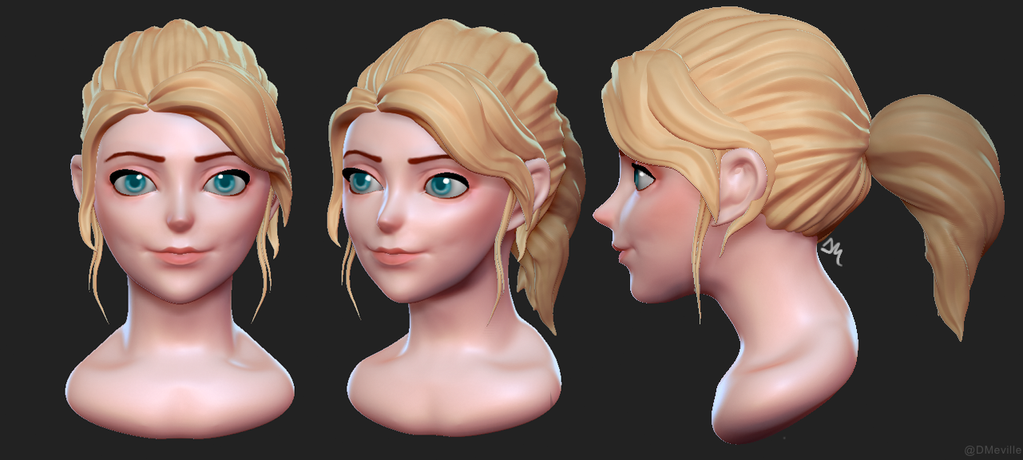 Disney Practice Sculpt by Dmeville