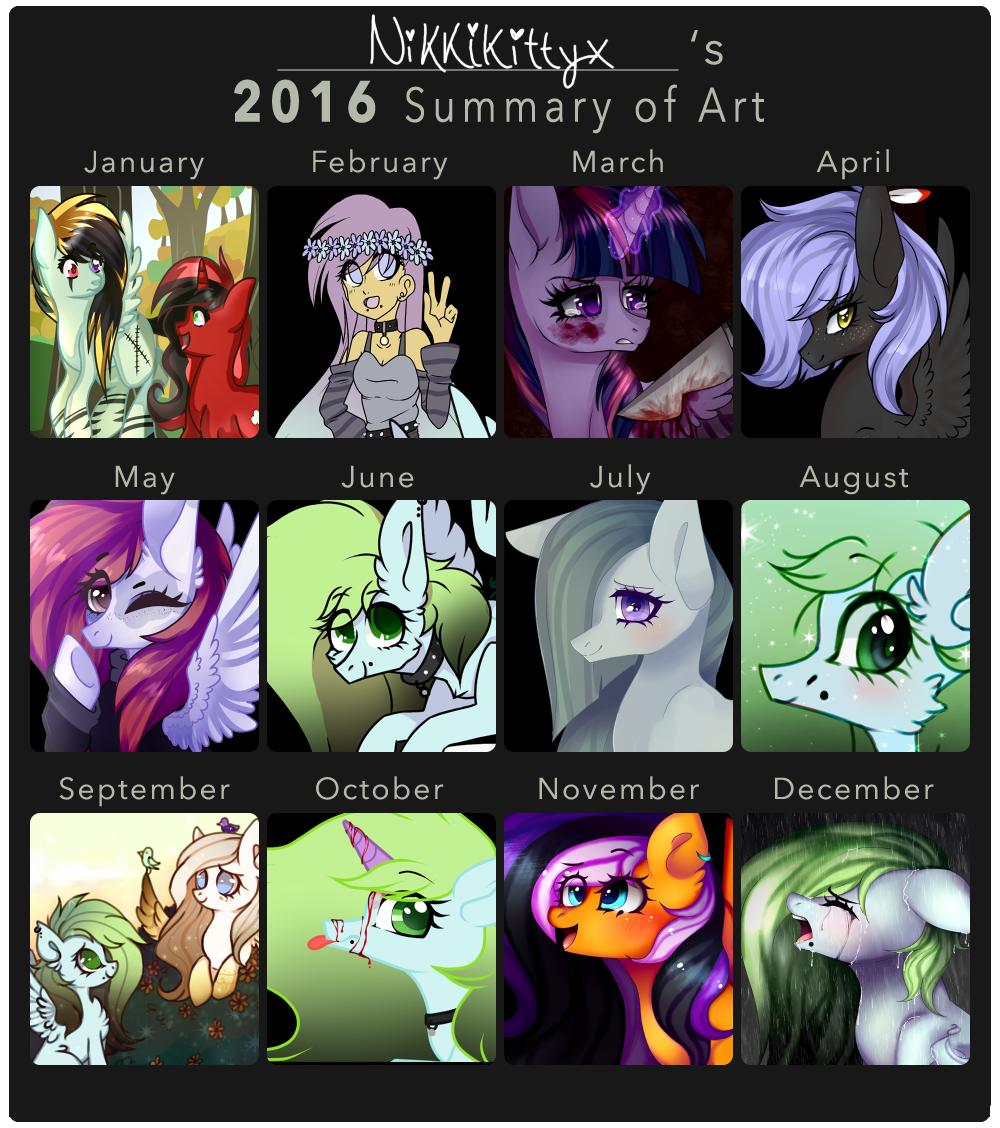 Nikkikittyx's 2016 Summary of Art by NikkiKittyx