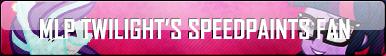 MLP TWILIGHT'S SPEEDPAINTS FAN BUTTON by xXShnysDrawnzXx