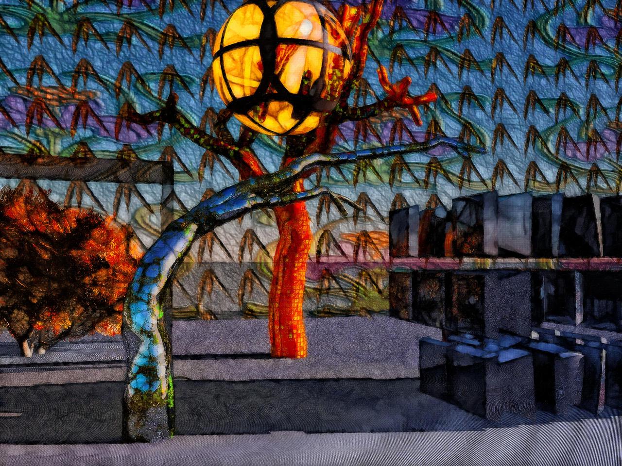 Joshua Tree paint by hiram67