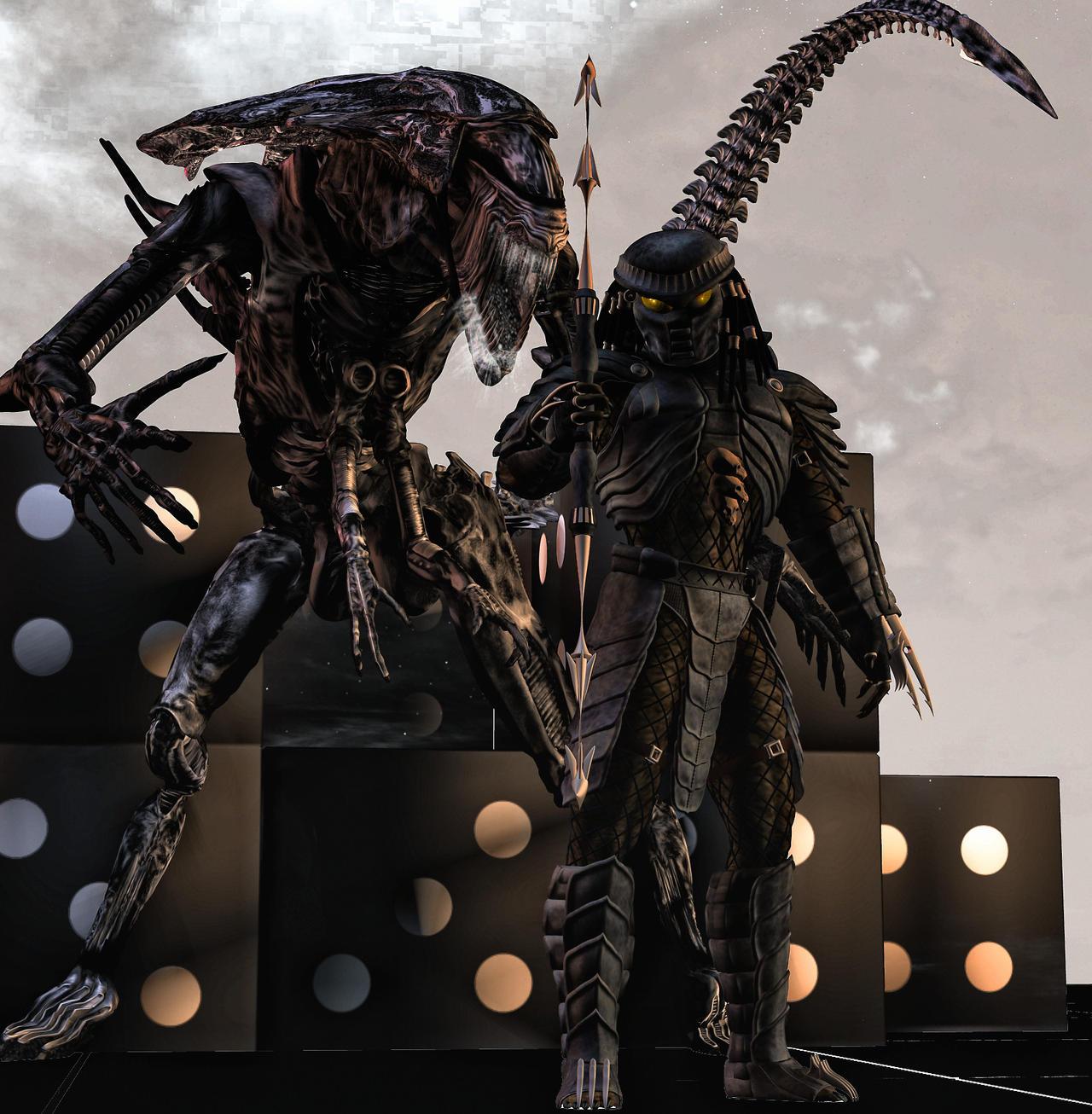 aliens vs predator drawings - photo #30