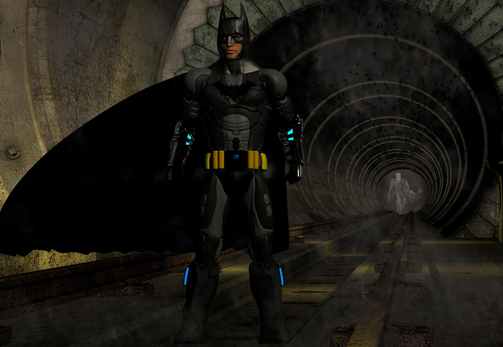 Batman in the tube by hiram67