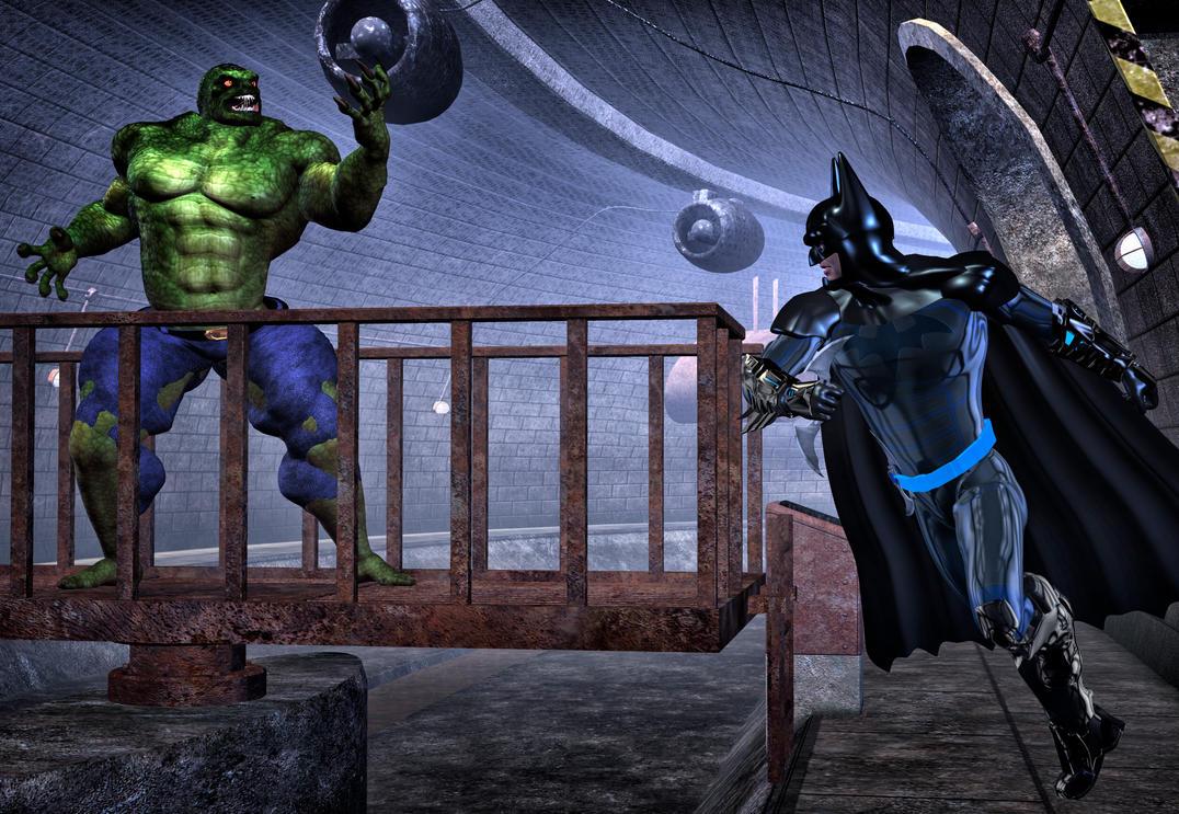 Batman vs KillerCrok by hiram67