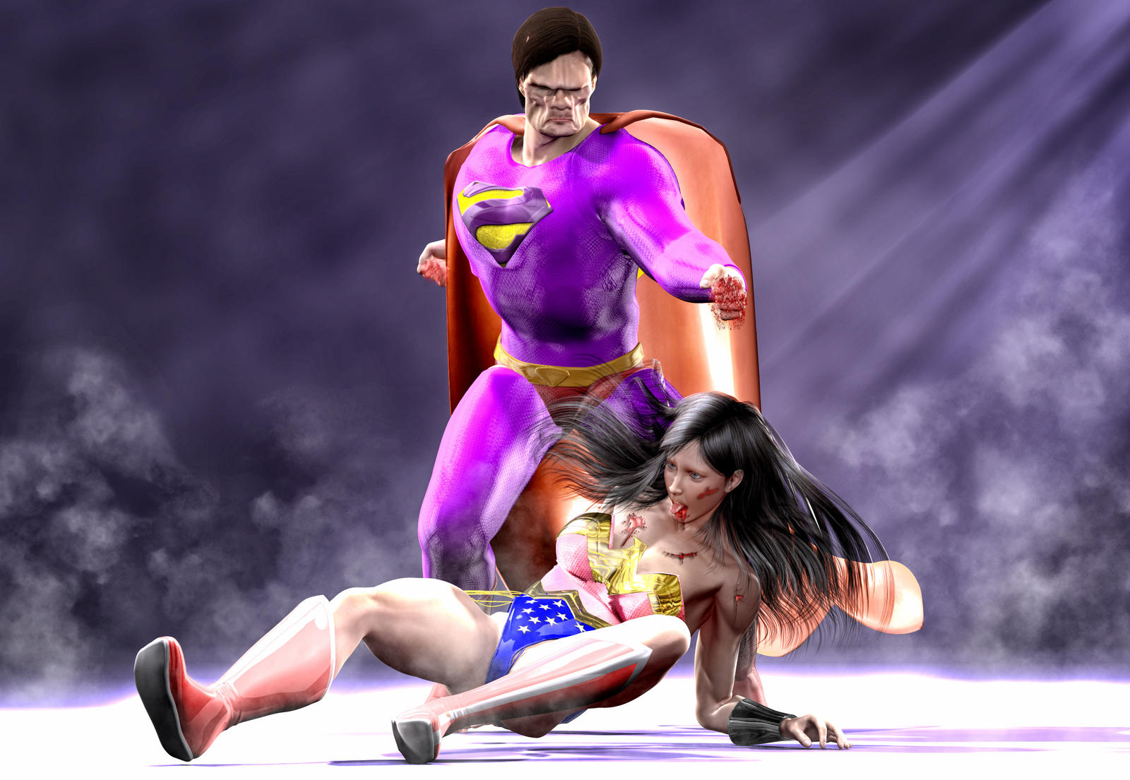 Bizarro vs Wonder Woman by hiram67