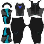 Nightwing texture for daz3d M4 bodysuit